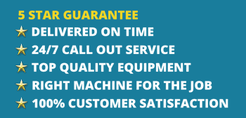JC Hire 5 Star Guarantee